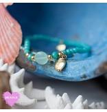 Biba armband groen met bedels