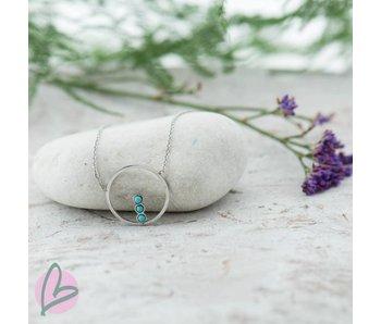 ZAG  Bijoux ketting zilver/turquoise