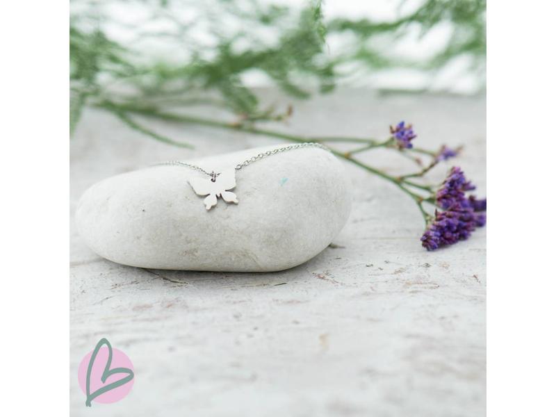 ZAG  Bijoux ketting zilver vlindertje