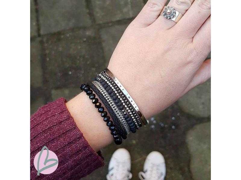 Zeeuws Zilveren Zeeuws meisje armband van stainless steel