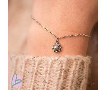 Zeeuws Zilveren zeeuwse knop armband met zeeuwse knop hangertje