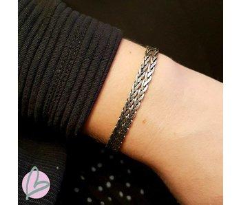 Biba metalen armband zilver 'double'