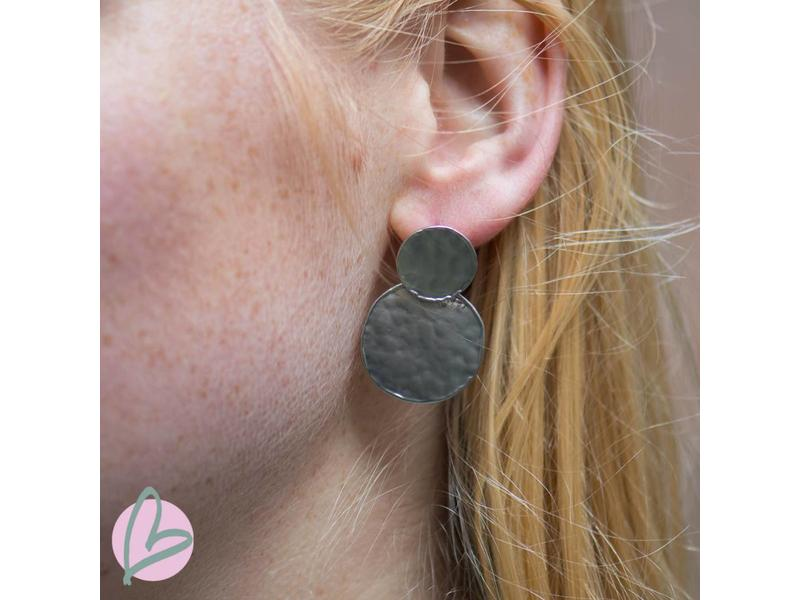 Viva mat zilverkleurige oorbellen
