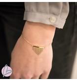 ZAG  Bijoux armband goud bohemian wave