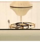 Setje van 3 ringetjes goud en zwart