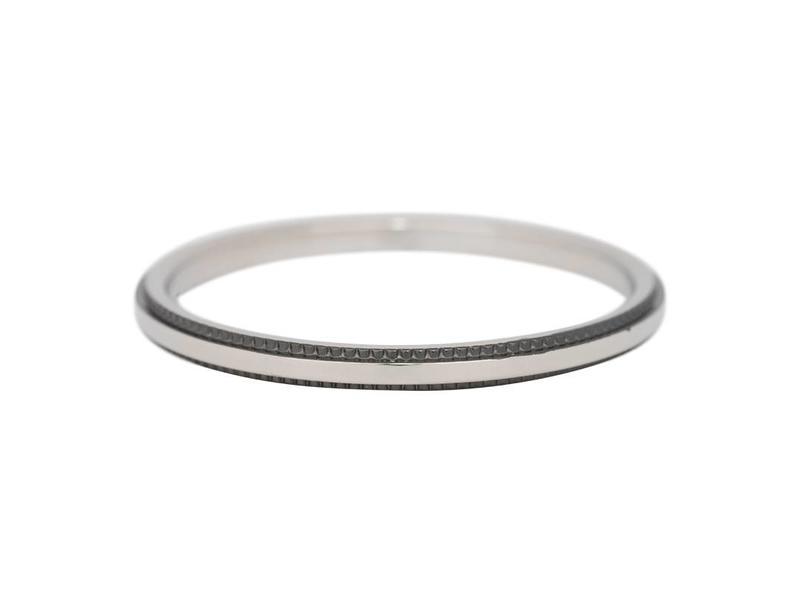 IXXXI iXXXi Jewelry Double Gear zilver met zwart randje