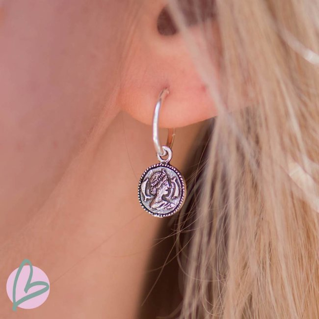 KARMA Hoops Symbols Coin Silver 925