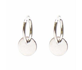 KARMA Hoops Symbols Discus Silver 925