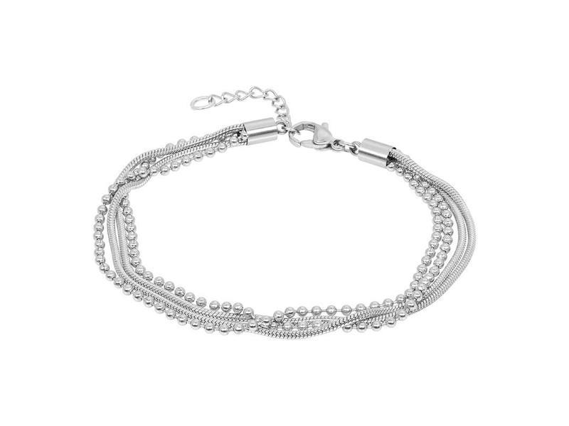 IXXXI enkelbandje snake ball zilver