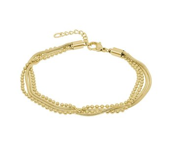 IXXXI enkelbandje snake ball goud