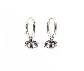 KARMA Hoops Symbols Eye Silver