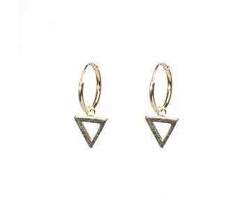 KARMA Hoops Symbols Open Triangle Gold
