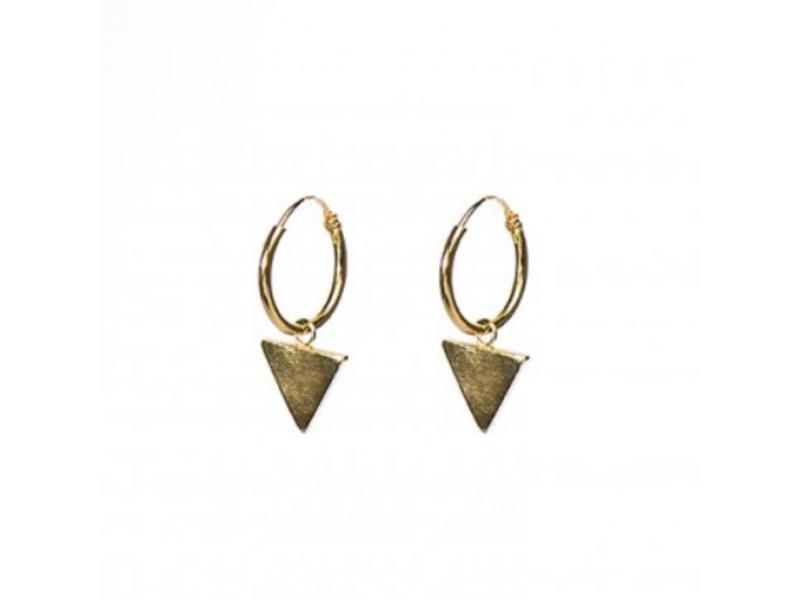 KARMA KARMA oorringen driehoekje goud