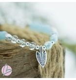 Biba kralenarmband  lichtblauw/zilver