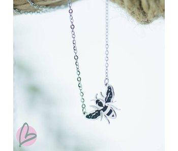 ZAG  Bijoux ketting zilver met bijtje (bee)