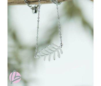 ZAG Bijoux ketting zilver met blaadje (leaf)