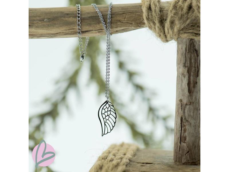 ZAG  Bijoux ketting zilver met vleugel