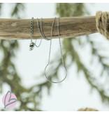 ZAG  Bijoux ketting zilver met open rondje