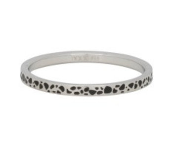 IXXXI aanschuifring spots 2mm zilver