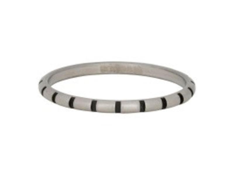 IXXXI aanschuifring  stripes 2mm zilver
