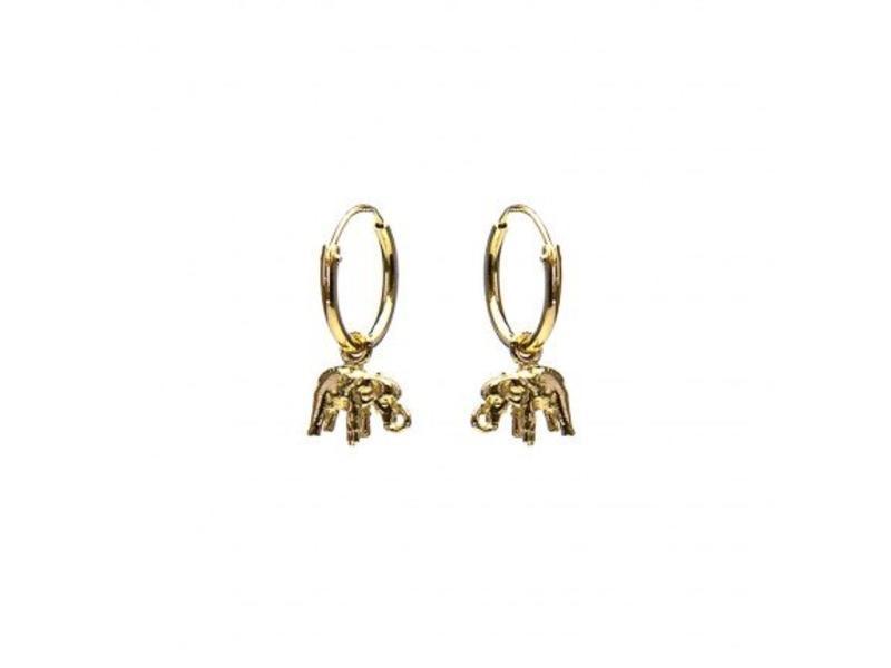 KARMA Hoops Symbols Elephant Gold
