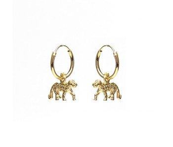KARMA Hoops Symbols Leopard Gold
