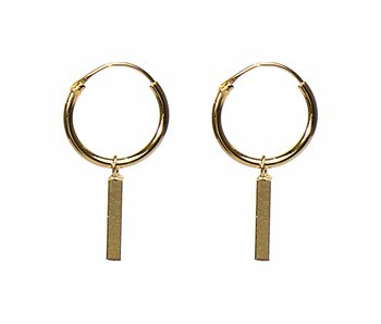 KARMA Hoops Symbols Tube Square Gold 925