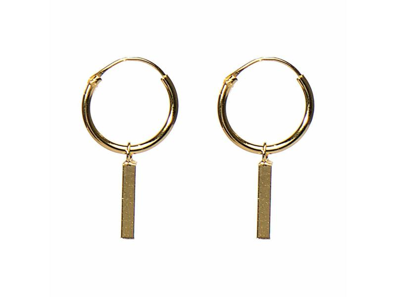 KARMA Hoops Symbols oorringen tube goud vierkant