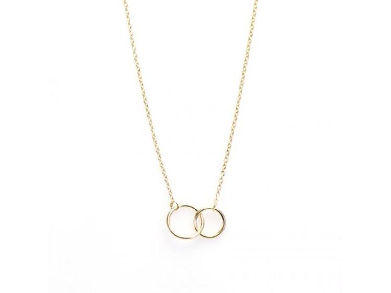 KARMA Karma ketting goud dubbele ringen