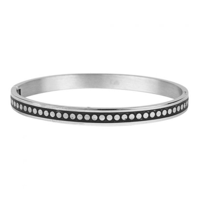 KalliKalli Bangle armband zilver smal dots