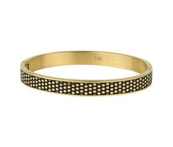 KalliKalli Bangle armband goud dots breed