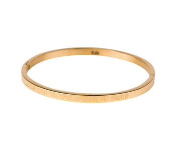 KalliKalli gouden bangle armband ''I love you to the moon and back''