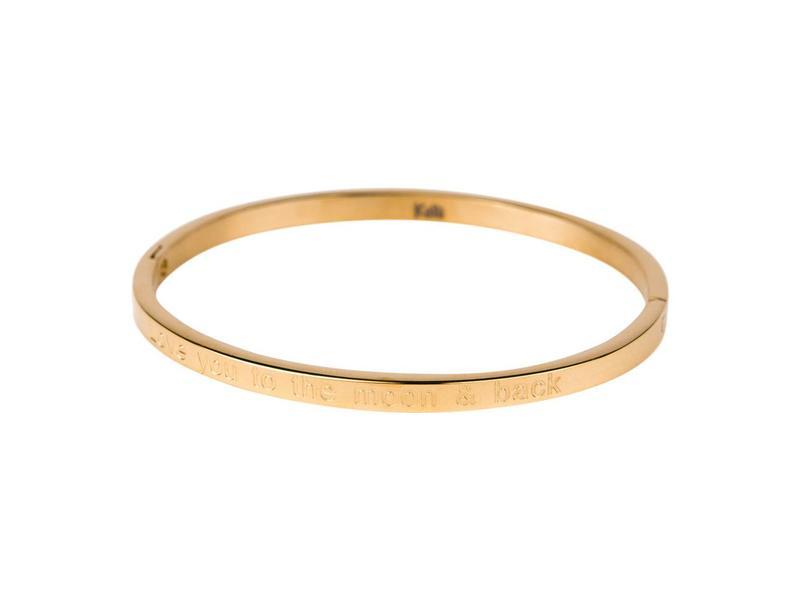 Kallikalli Gouden Bangle Armband I Love You To The Moon And Back