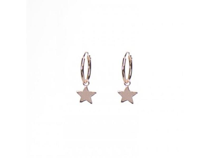 KARMA Hoops Symbols Stars Rosegold