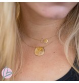 ZAG  Bijoux ketting goud met twee cirkels