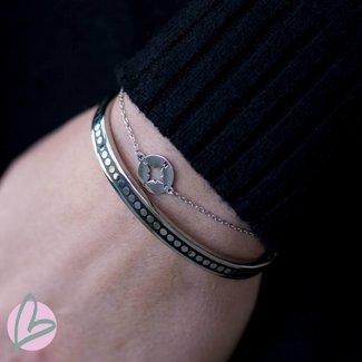 ZAG  Bijoux armband kompas zilver