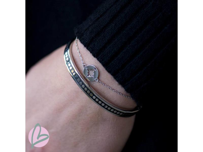ZAG  Bijoux armband zilver met kompas