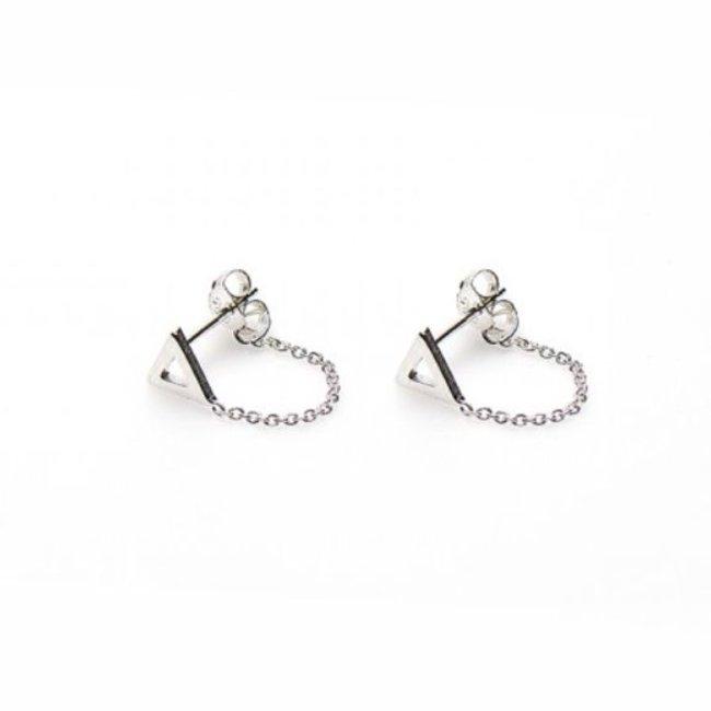 KARMA Chain Open Triangle Silver