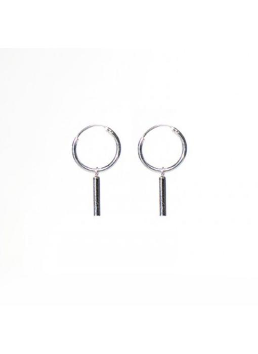 KARMA Hoops Symbols Tube Round - Silver 925