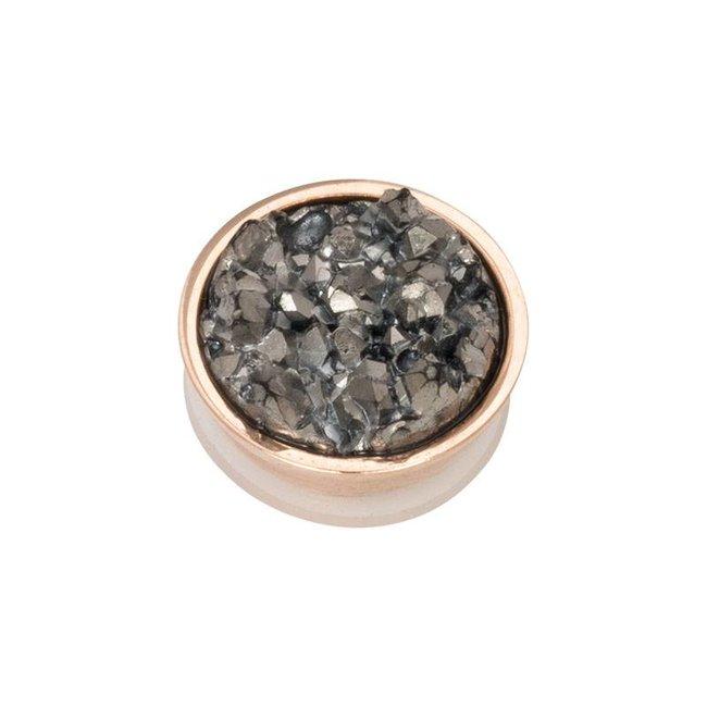IXXXI top part drusy dark gray rosegoud