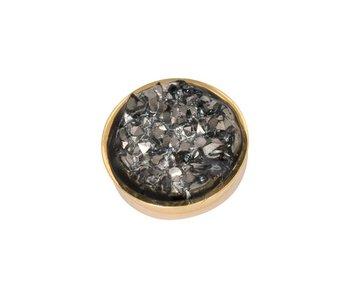 IXXXI top part drusy dark gray goud