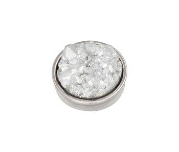 IXXXI top part drusy crystal zilver