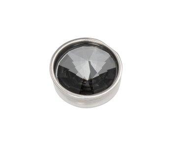 IXXXI top part pyramid black diamond zilver