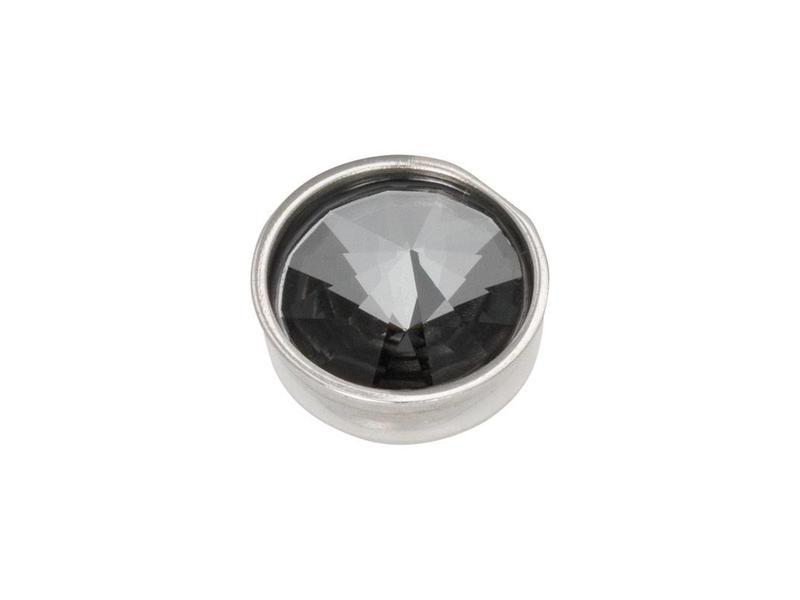 IXXXI top part pyramid black diamond zilver