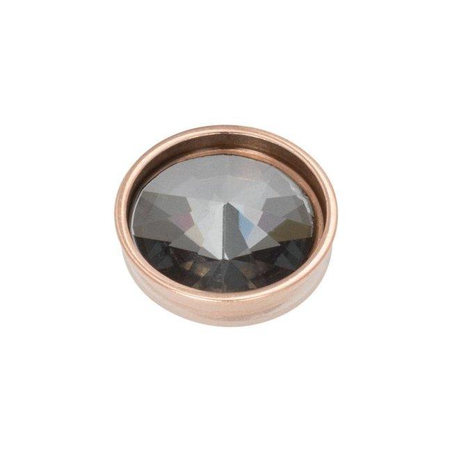 IXXXI top part pyramid black diamond rosegoud