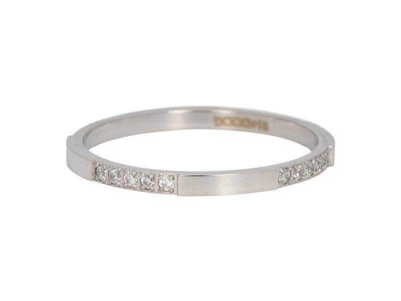 IXXXI aanschuifring 2mm chic zilver