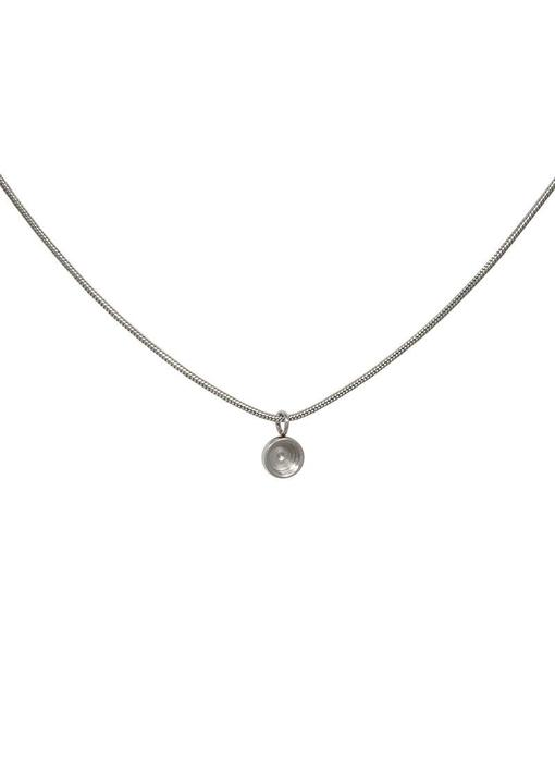 IXXXI Snake top part base ketting zilver