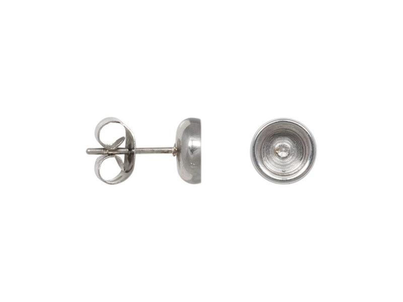 IXXXI Ear studs top part base zilver