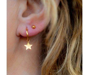 KARMA Hoops Symbols Stars Gold