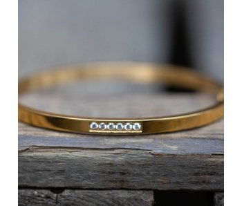 KalliKalli gouden bangle armband small diamonds